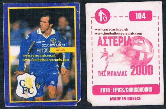 2000 Greek Zola Chelsea sticker